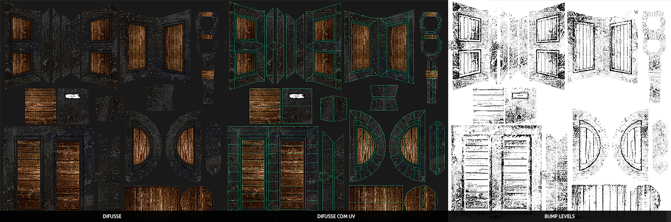 Maya - Chest - Bau -UV Mapping - Bruno BPS - Bruno Pires