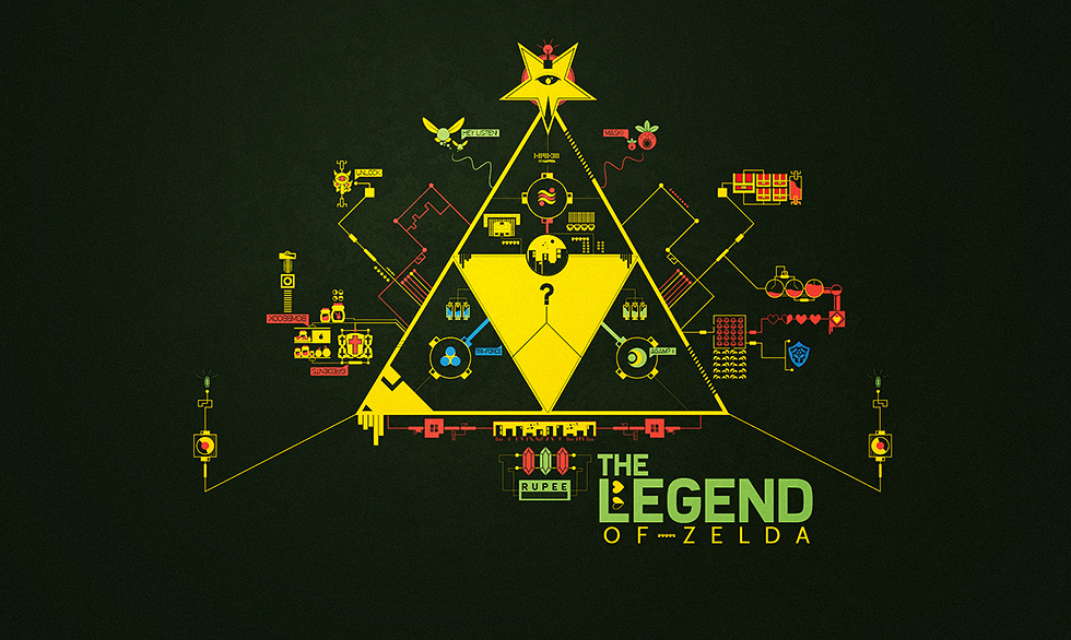 Legend of Zelda - Abstract Vector